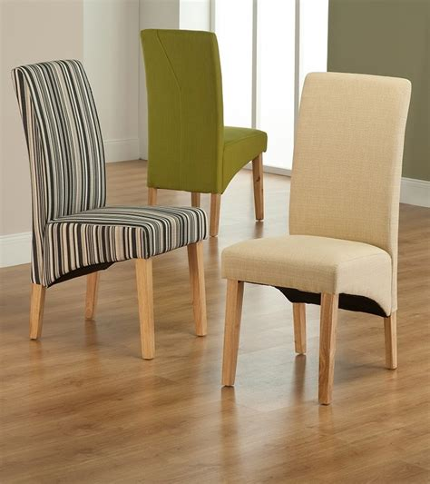 Cloth Dining Chair Roma Striped Fabric Dining Chair