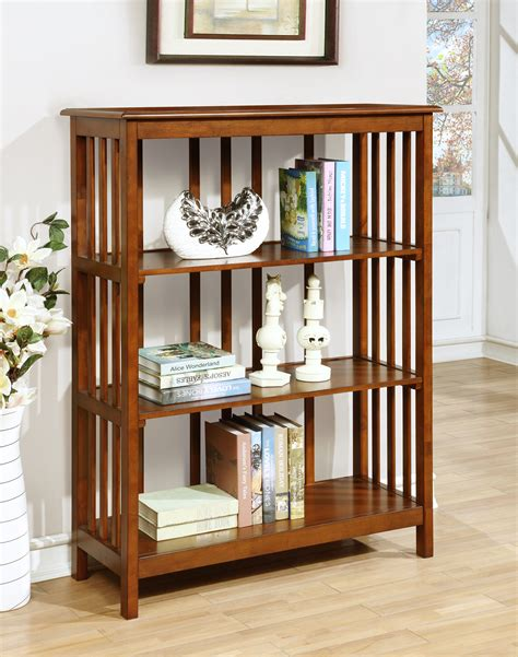 mission style furniture furniture of america oak collens mission style 3 tier shelf