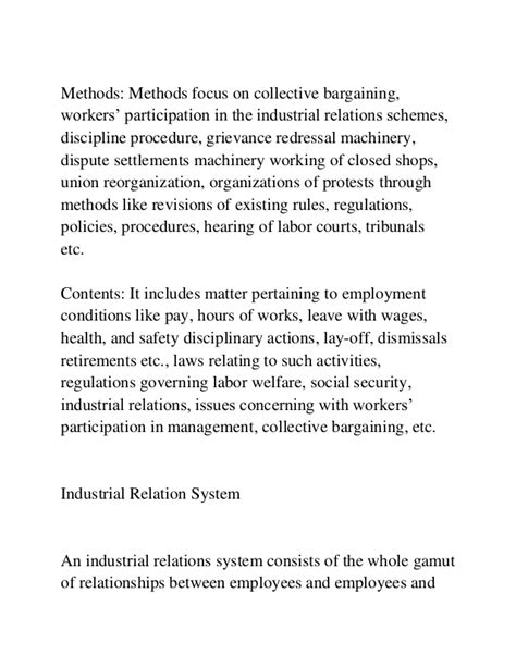 Industrial Relations Mba Project by Industrial Relations Mba