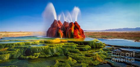 January Home Decor by Fly Geyser Panorama Photograph By Inge Johnsson