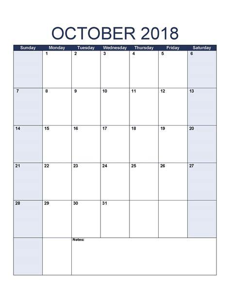 october 2018 calendar october 2018 calendar template