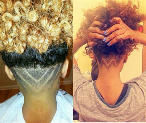 natural hair shaved nape curly natural hair undercut hairstyles 2017 blackhairlab com