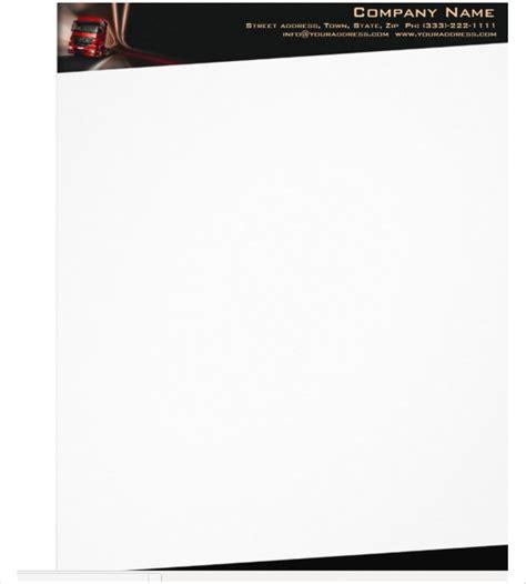 trucking company letterhead templates 23 company letterhead templates free premium templates
