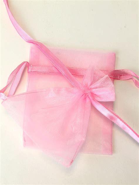 Organza Silk Sutera Baby Pink chiffon organza bags