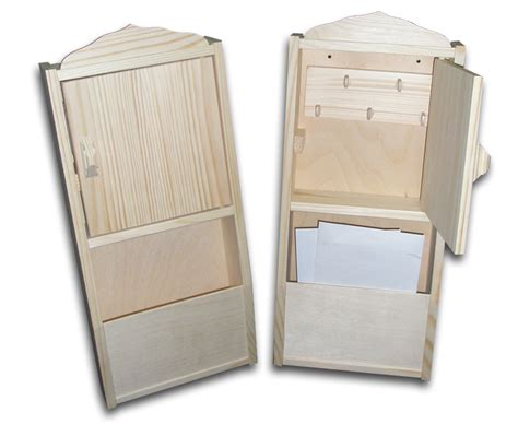 Wood Key Cabinet by New Unpainted Wooden Key Cabinet Letter Rack Home