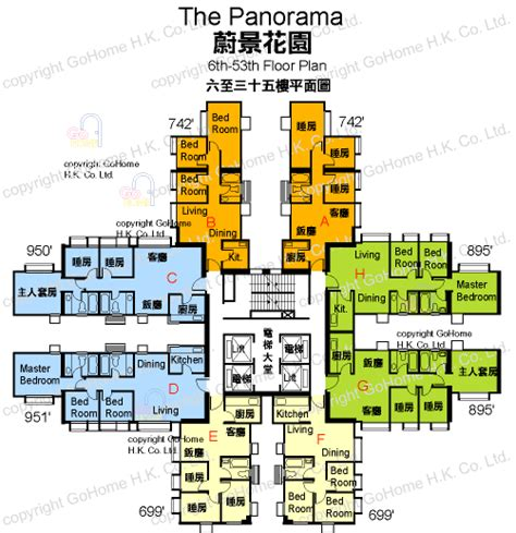 the panorama floor plan floor plan of the panorama gohome com hk