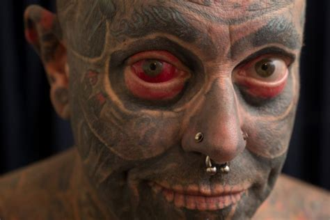 eyeball tattooing abc news australian tattboy holden meet the covered to toe and even