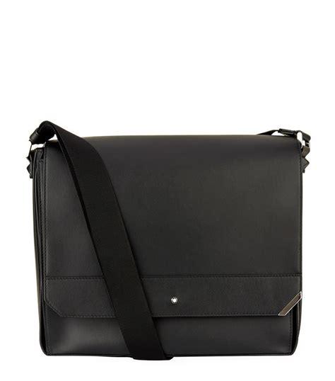 Mont Blanc Office Bag Elg97143 montblanc spirit messenger bag in black for lyst
