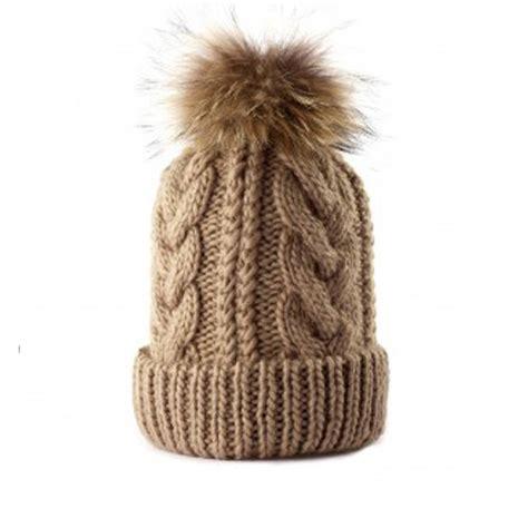how to knit a pom pom hat a cable knit pom pom beanie hat by cielshop
