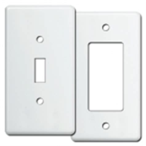 White Light Switch Covers by White Switch Plate White Outlet Covers Rocker Light