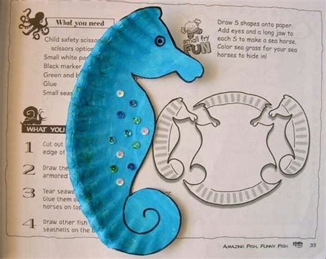 How To Make A Seahorse Out Of Paper - sea out of a paper plate for the to