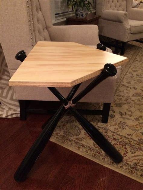 custom baseball bat bench baseball bat end table real wood table bat table by