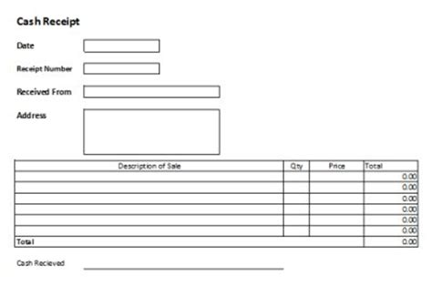 customer receipt template excel free receipts templates excel receipts template