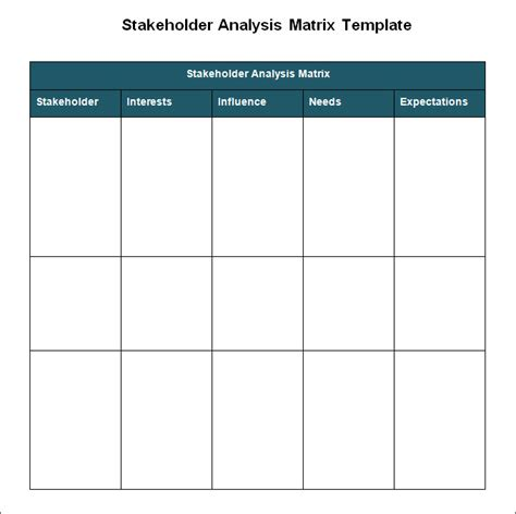 stakeholder analysis template stakeholder analysis template 6 free word excel pdf