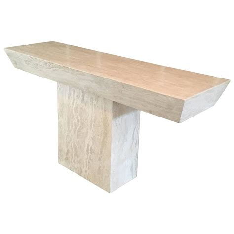 Italian Travertine Console Table At 1stdibs Travertine Sofa Table