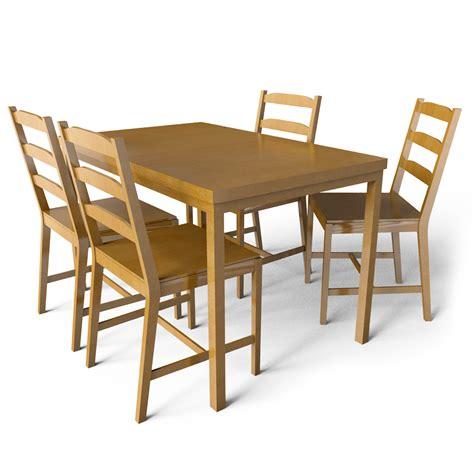 Jokkmokk Table by Cad And Bim Object Jokkmokk Table And 4 Chairs