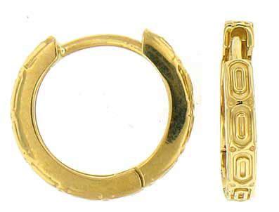 Platinum 11 50 Mm Hinged Earrings single 13 5mm 9 16 quot gold hinged hoop earring 4147s