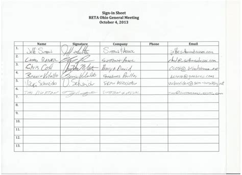 na meeting attendance sheet kays makehauk co