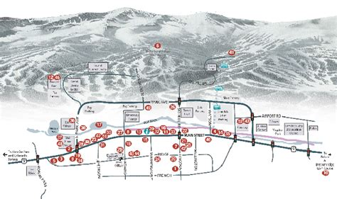 breckenridge map breckenridge map town images