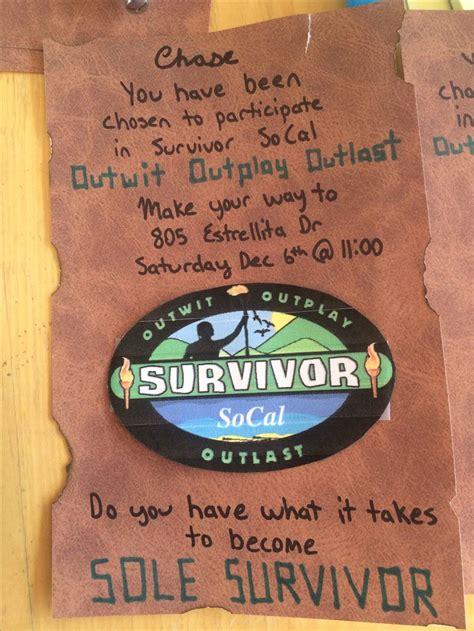 Survivor Invitation Survivor Food Ideas Pinterest Survivor Invitation Template