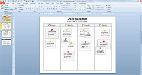 Free Agile Roadmap Powerpoint Template Agile Roadmap Template