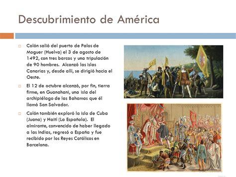imagenes de barcos del descubrimiento de america descubrimiento conquista y colonizaci 243 n de am 233 rica ppt