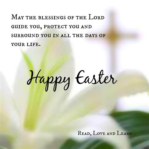 happy easter may the blessings of the lord guide and bless