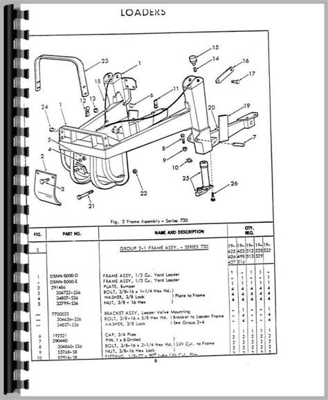ford 730 tractor loader backhoe parts manual