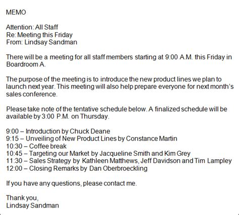 sle staff meeting memo staff meeting memo template