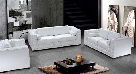 white leather sofa set with crystals he 708 leather sofas