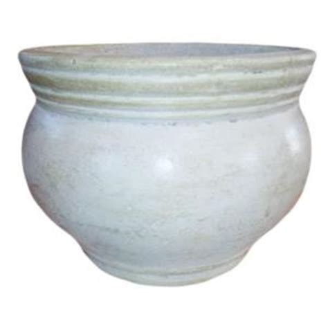 home depot clay pots 18 in white clay bean pot rp 15 24 the home depot