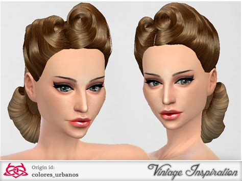 sims  hairs  sims resource victory rolls hairstyle