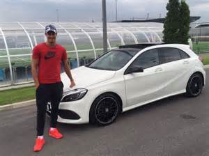 Mercedes Ascot Manchester City Fc Player Kjetil Haug With His New