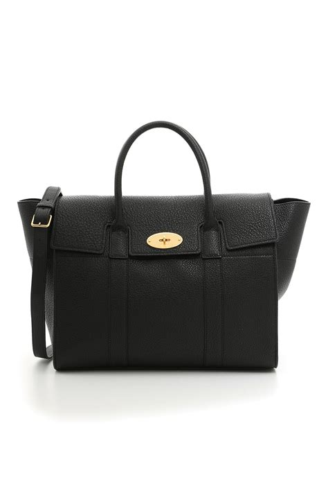 Tribute To A Timeless Classic Mulberrys Leather Bayswater Bag by Mulberry New Bayswater Grained Leather Satchel Black In