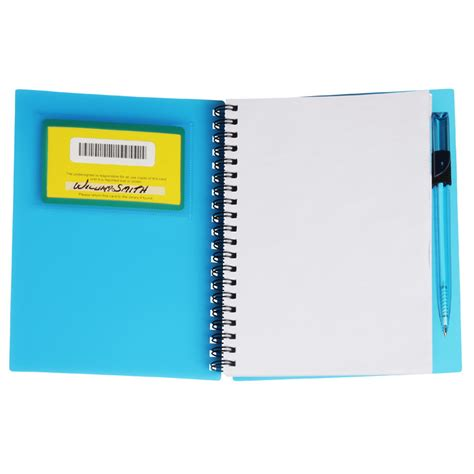 business card notebook with pen translucent item no