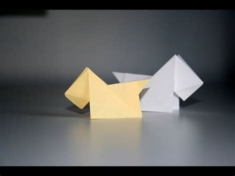 Origami Scottie - origami tutorial scottish terrier