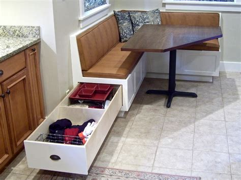 Banquettes With Storage by Corner Banquette And Table Traditional Dining Tables