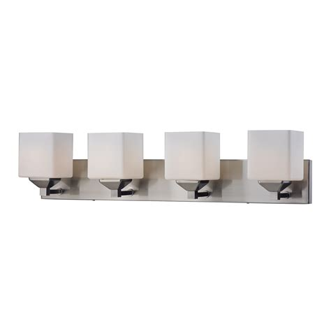 4 light bathroom vanity fixture z lite 210 quube 4 light vanity fixture lowe s canada