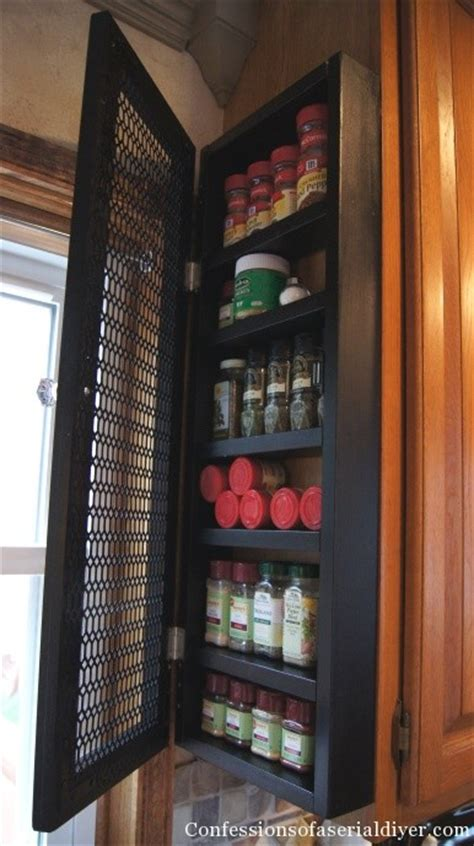 diy spice cabinet and 17 more kitchen organization ideas