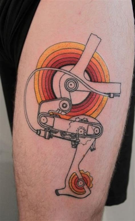bike gear tattoo cycling tattoos pinterest