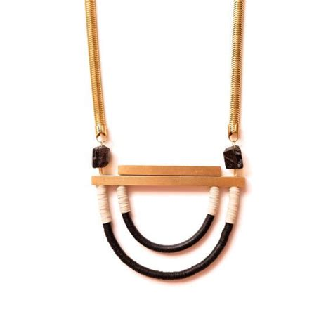 Pin Golok By Betawionline Shop the scope necklace in black and alabaster by