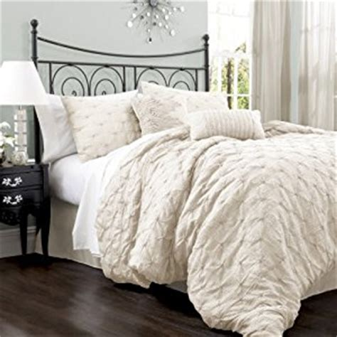 ivory comforter king com lush decor lake como 4 piece comforter set