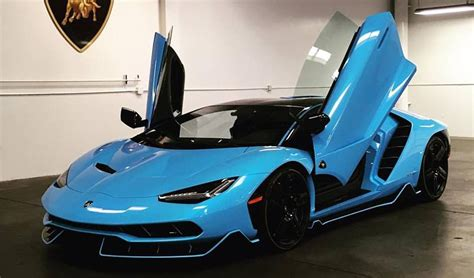 Blauer Lamborghini by Baby Blue Lamborghini Centenario Delivered