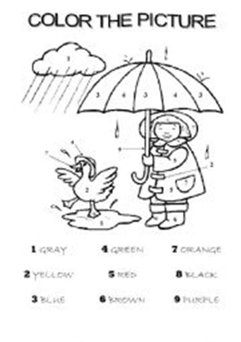 printable coloring pages esl worksheet color the picture