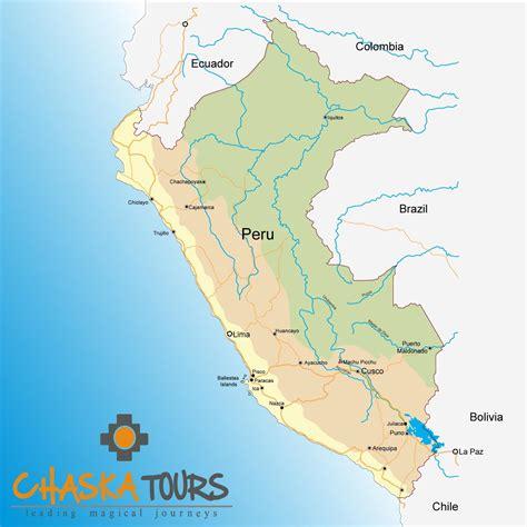 map of peru map of peru chaskatours