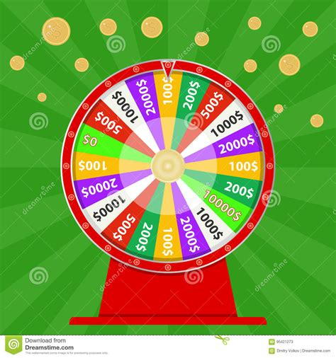 Win Money Com - spinning wheel of fortune win money try your luck stock