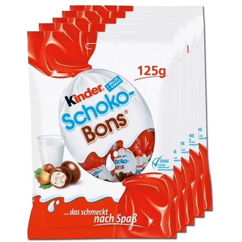 Kinder Crispy Schoko Bons 52 2g ferrero kinder schokobons bonbon schokolade 5 st 252 ck