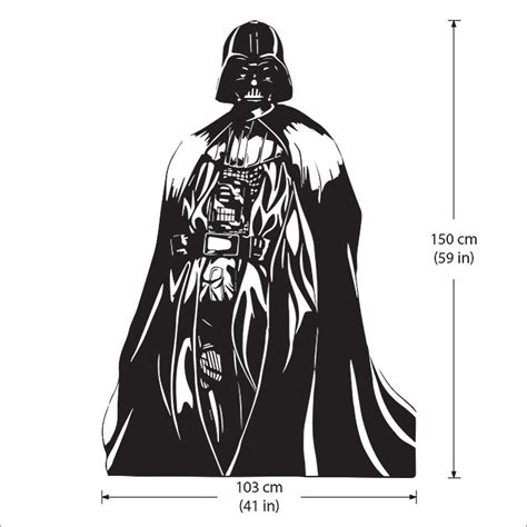darth vader wall sticker darth vader wars vinyl wall decal