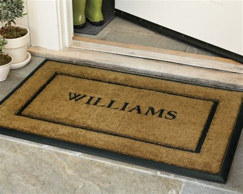 Personalized Doormats personalized rubber and coir picture frame doormats traditional doormats by williams sonoma