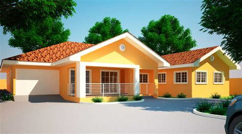 4 Room House | house plans ghana jonat 4 bedroom house plan in ghana
